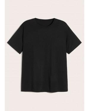 Plain Blank Black Stylish T-Shirt