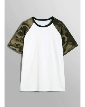 Camo Raglan Sleeve Brand Your Own T-Shirt TS 107 19