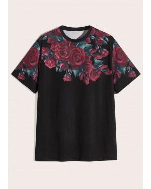 Floral Design Print Short Sleeves