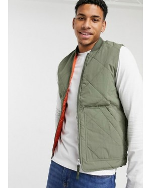 High-Quality-Originals-Quilted-Gilet-in-Khaki-TS-1257-21-(1)