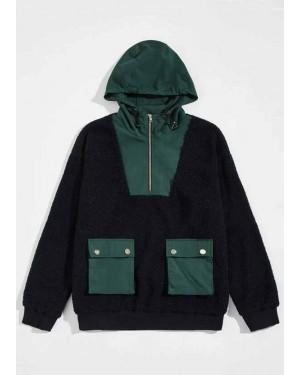 Unisex-Flap-Pocket-Mixed-Media-Zip-Half-Placket-Hoodie-TS-1212-20-(1)