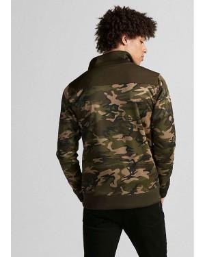 Color Block Camo Track Jacket TS-2217-20