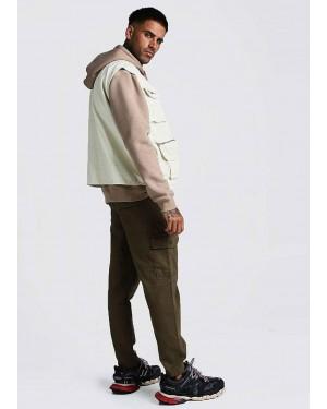 Custom-Made-Khaki-Cotton-Twill-Cargo-Trouser-TS-1427-21-(1)