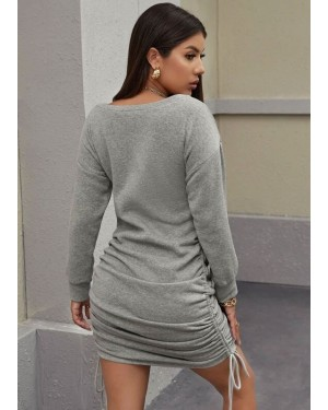 Drop-Shoulder-Ruched-Drawstring-Knot-Sweatshirt-Dress-Custom-Brand-Services-TS-1136-20-(1)