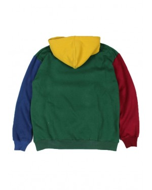 Green-Color-Block-Customization-Hoodie-with-Adjustable-Drawstring-and-Kangaro-Pocket-TS-1324-21-(1)