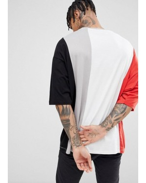 Oversized-Half-Sleeves-T-Shirt-Color-Block-Contrast-Panels-Manufacturer-&-Supppliers-TS-1183-20-(1)