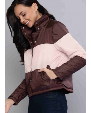 Pink-&-Burgundy-Colorblocked-High-Quality-Women-Padded-Jacket-TS-1577-21-(1)